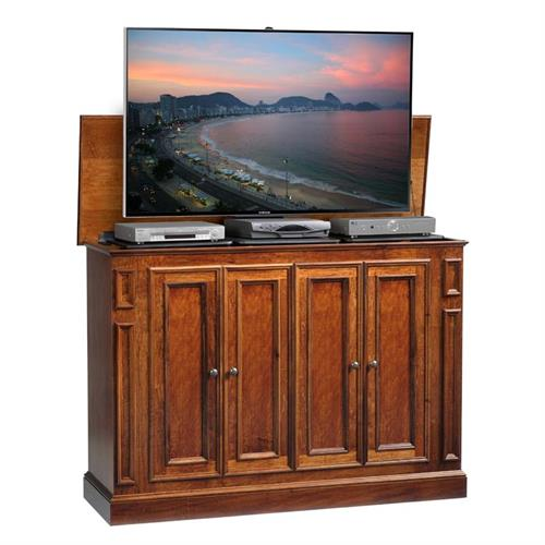 View a larger image of TV Lift Cabinet Harbor Series Lift for 60 inch Screens (Michaels Brown) AT006514MICH.