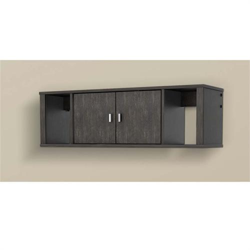 View a large image of the Prepac Designer Wall Mounted Floating Hutch Black HSUW-0502-1 here.