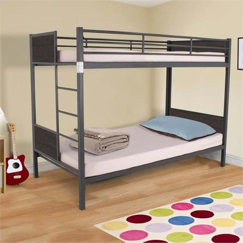 View a large image of the Living Essentials Juno Folding Bunk Bed with Headboard (Oak) BFMVO0720 here.