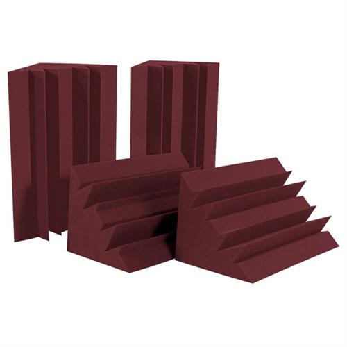 View a large image of the Auralex Acoustics Standard LENRD Bass Traps HALF PACK Burgundy Pack of 4 LENBUR_HP here.