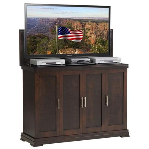 View a large image of the TV Lift Cabinet Linton TV Lift for 42 to 65 inch Screens Espresso AT006474 here.
