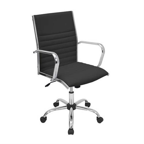 View a large image of the LumiSource Master Office Chair Black and Chrome OFC-AC-MSTR BK here.