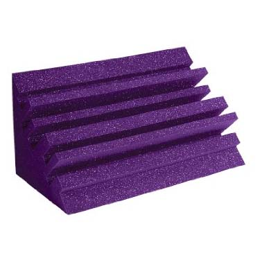 View a large image of the Auralex Acoustics Metro LENRD Bass Traps Purple METROLENPUR here.