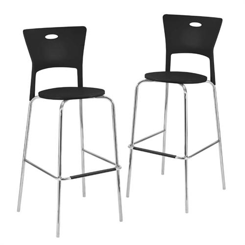 View a larger image of the LumiSource Pair of Mimi Barstools (Black) BS-CF-MIMI BK2.