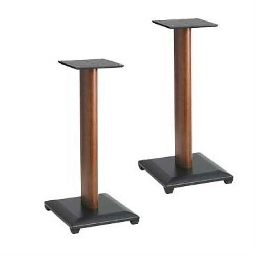 View a large image of the Sanus Natural Foundations 24 inch Speaker Stands Cherry NF24C here.