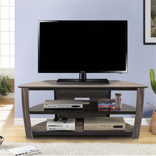 View a large image of the Living Essentials Norwalk 60 in. TV Stand (Greyson Olive) TFWGO0455 here.