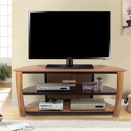 View a large image of the Living Essentials Norwalk 60 in. TV Stand (Golden Maple) TFWGM045 here.