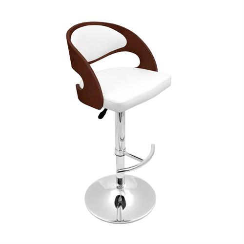 View a large image of the LumiSource Pino Bar Stool Cherry and White BS-JY-PN CH W here.