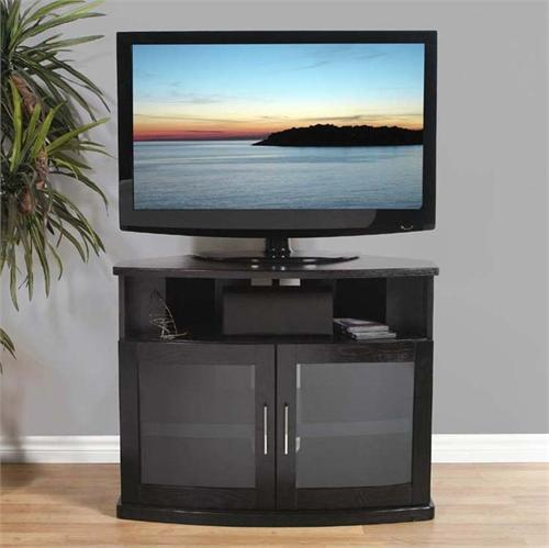 View a large image of the Plateau Newport Corner TV Cabinet for 26-42 in. TVs Black Newport 40 B here.