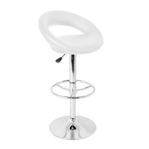 View a large image of the LumiSource Posh Bar Stool White BS-TW-POSH W here.