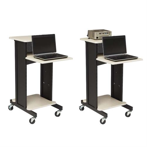 View a large image of the Oklahoma Sound Premium Presentation Cart (Black and Ivory) PRC200 here.
