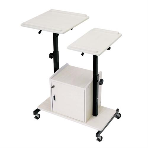 View a large image of the Oklahoma Sound Deluxe Presentation Cart (Black and Ivory) PRC300 here.