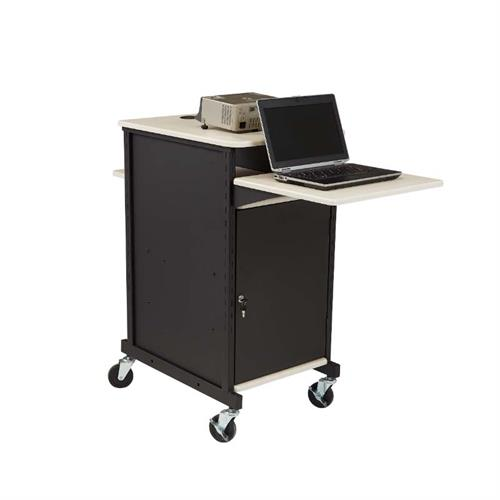 View a large image of the Oklahoma Sound Jumbo Presentation Cart (Black and Ivory) PRC400 here.