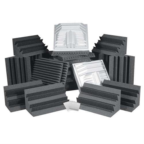 View a large image of the Auralex Acoustics Pro Plus Roominator Sound Control Kit Charcoal ROOMPROPLUSCHA here.