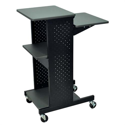 View a large image of the Luxor Steel Presentation Workstation Black PS4000 here.