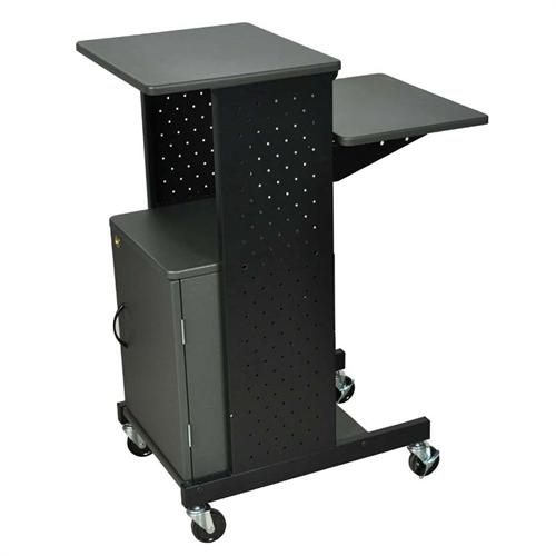 View a large image of the Luxor Steel Presentation Workstation with Locking Cabinet Black PS4000C here.