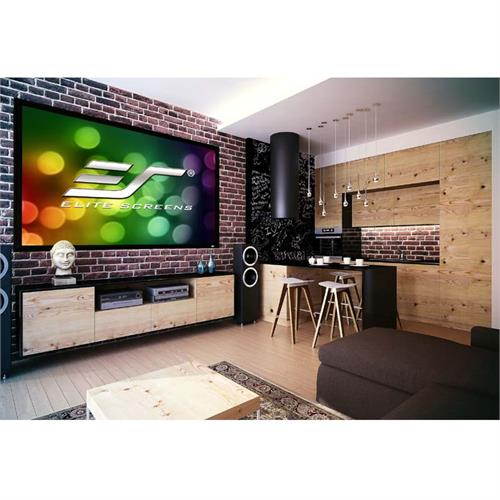 View a large image of the Elite Screens 150 inch Sable Frame 2 Projection Screen (CineWhite) ER150WH2 here.