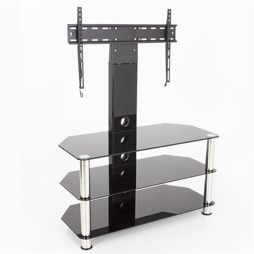 View a larger image of the AVF Glass Corner Pedestal TV Stand for 32 to 60 in TVs (Chrome and Black) SDCL900