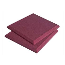 View a large image of the Auralex Acoustics SonoFlat StudioFoam 2 x 2 ft. Sound Absorption Panels Burgundy pack of 16 SFLATBUR here.