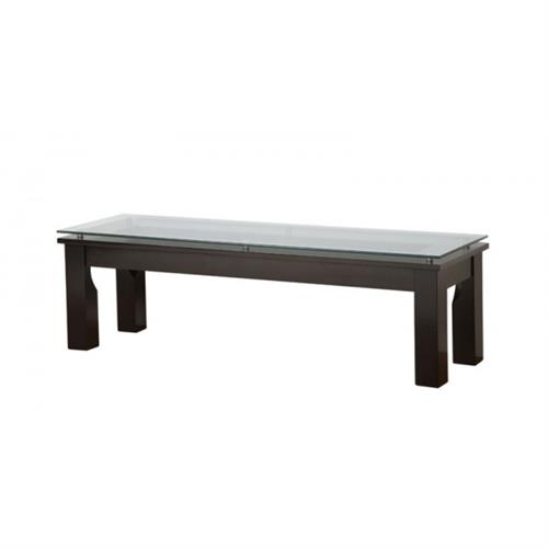 View a large image of the Plateau SL Series Glass Coffee Table Black Frame Clear Glass SL-TCR 50 x 15 B here.