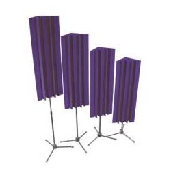 View a large image of the Auralex Acoustics Stand-Mounted LENRD Bass Traps Purple 4 pack S_MLENPUR here.