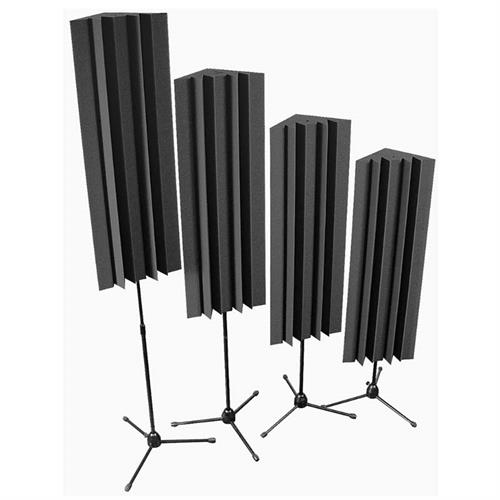 View a large image of the Auralex Acoustics Stand-Mounted LENRD Bass Traps Charcoal 4 pack S_MLENCHA here.