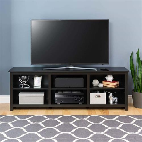View a large image of the Prepac Sonoma Collection 72 inch TV Stand Black BCTG-0001-1 here.