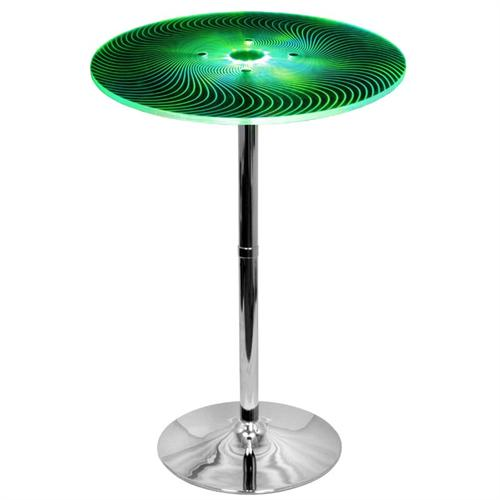 View a large image of the LumiSource Spyra Bar Table with Color Changing LED Lights Clear Acrylic BT-SPYRA here.