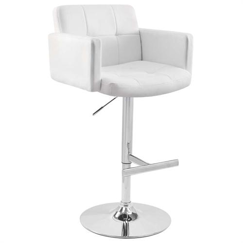 View a large image of the LumiSource Stout Bar Stool White BS-TW-STOUT W here.