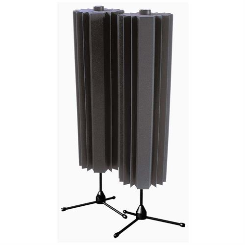 View a large image of the Auralex Acoustics Sunburst 360 Sound Absorbers with Stands Charcoal set of 2 SUN360CHA here.
