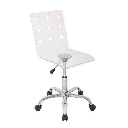 View a large image of the LumiSource Swiss Clear Acrylic Computer Chair OFC-TW-SWISS CL here.