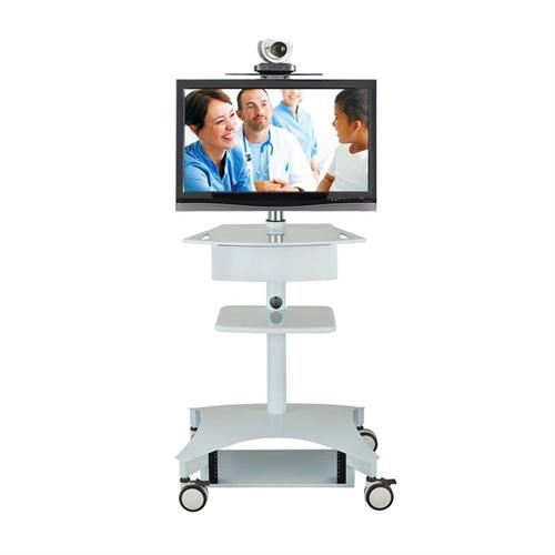 View a large image of the AVTEQ Mobile Telemedicine Cart for Flat Screens up to 32 inches TMP-200 here.