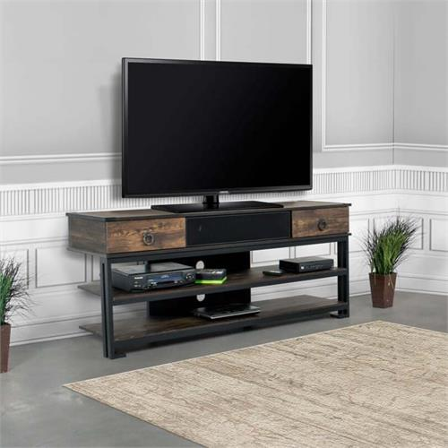 View a large image of the Living Essentials Tucson 65 in. TV Stand with Installed Speaker SSWTR0260 here.
