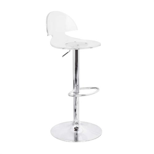View a large image of the LumiSource Venti Bar Stool Clear Acrylic BS-TW-VENTI CL here.