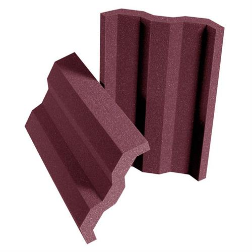 View a large image of the Auralex Acoustics VersaTile Broadband Absorption Panels Burgundy set of 24 VTILEBUR here.