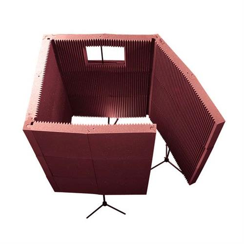 View a larger image of Auralex Acoustics MAX-Wall Portable Sound Absorption Recording Booth Kit (Burgundy) MAX1141BUR.