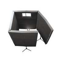View a large image of the Auralex Acoustics MAX-Wall Portable Sound Absorption Recording Booth Kit Charcoal MAX1141CHA here.
