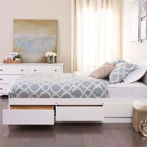 View a larger image of Prepac Full Size Platform Bed with 6 Drawers (White) WBD-5600-3K.