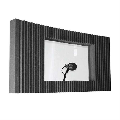 View a large image of the Auralex Acoustics MAX-Wall Window Kit with Plexiglas Charcoal MAXWIN_KITCHA here.