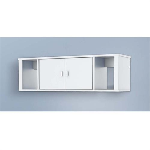 View a large image of the Prepac Designer Wall Mounted Floating Hutch White WSUW-0502-1 here.
