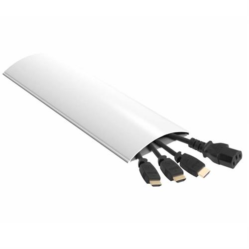 View a large image of the AVF Slim 6 ft Cable Management Kit for Wall Use Paintable White ZA180W-A here.