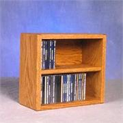 View a larger image of the  Currently Editing: Wood Shed Solid Oak Wall Mount CD Racks TWS-203-1 here.