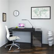 View a larger image of Nexera Sereni-T Home Office Set (2 Piece, Black and Ebony) 400616 here.