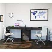 View a larger image of Nexera Sereni-T Home Office Set (3 Piece, Black and Ebony) 400617 here.