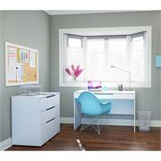 View a larger image of Nexera Arobas Home Office Set (2 Piece, White) 400648 here.