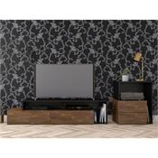 View a larger image of Nexera Paisley Entertainment Set (2 Piece, Truffle and Black) 400975 here.