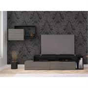 View a larger image of Nexera Damask Entertainment Set (2 Piece, Bark Grey and Black) 400979 here.