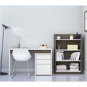 View a larger image of Nexera Chrono Home Office Set (3 Piece, Bark Grey and White) 402173 here.
