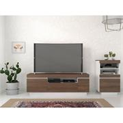 View a larger image of Nexera Cali Entertainment Set (2 Pc, 60-inch, Walnut and White) 402184 here.