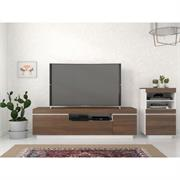 View a larger image of Nexera Cali Entertainment Set (2 Pc, 68-inch, Walnut and White) 402185 here.